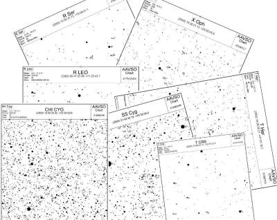 diverse variable star charts from AAVSO
